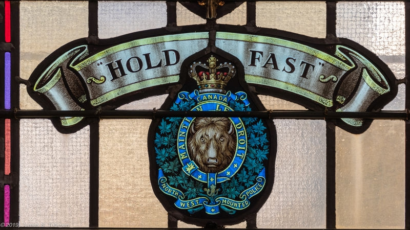 Lt. Col. James Macleod, NWMP, window detail