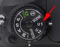 The user settings U1 & U2 on Nikon D600 & D7000 series