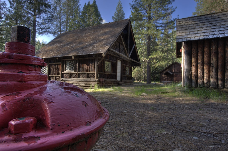 Fire hydrant and Pioneer houses