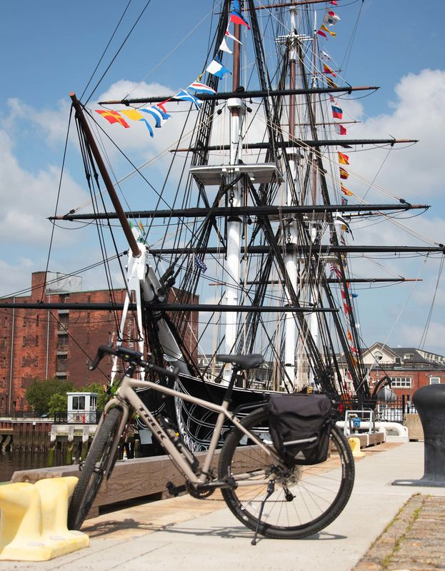 Trek 920 with USS Constitution in Background