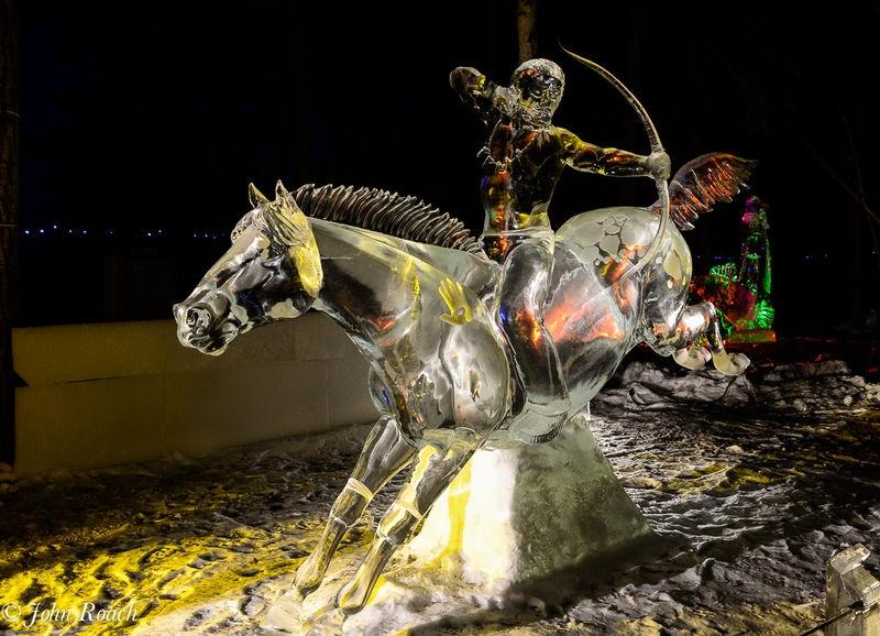 Ice Art Fairbanks -- The Indian Warrior