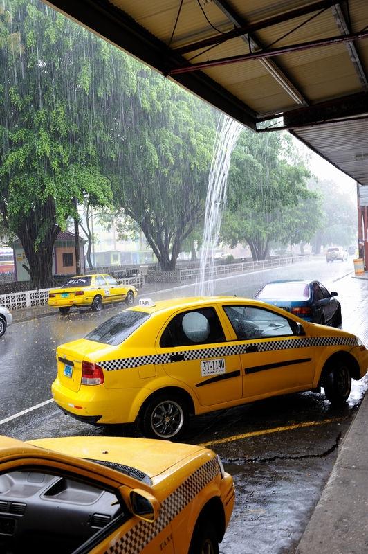 Tropical rain shower, Colon, Panama