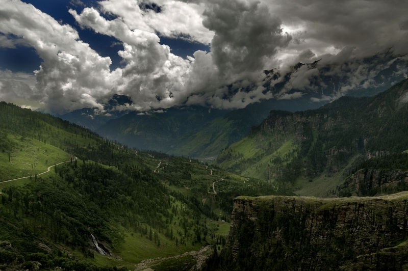 Over view from Rohtang  Pass.