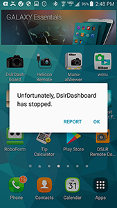 dslrDashboard crashes in Live Mode with D750    - Message 57762 by