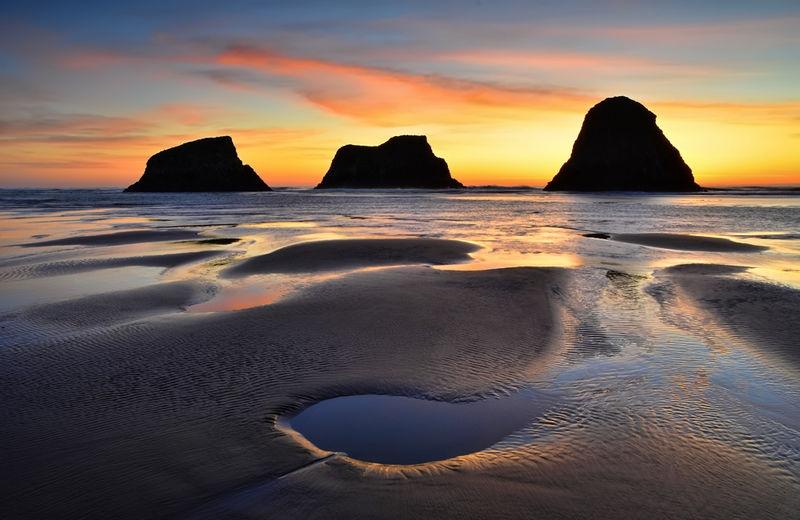 Bird Rocks at Sunset