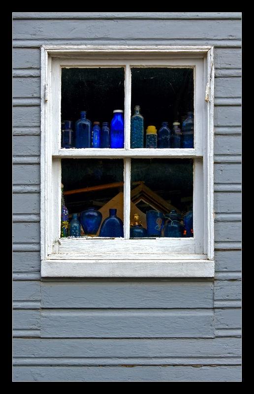 Blue Bottle Window