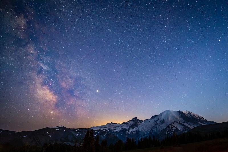 Mt Rainier / Milky Way