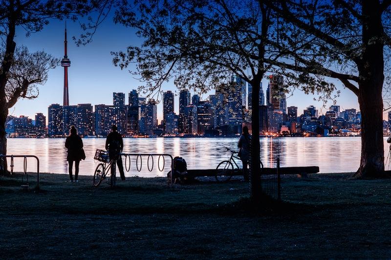 Toronto Sunset from Wards Island