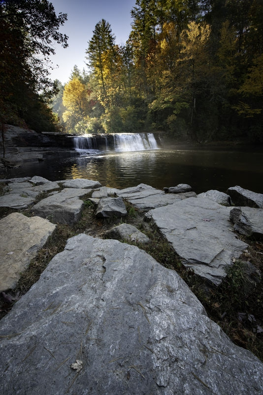Backlit Watefall: July Landscape Contest - A Low Viewpoint