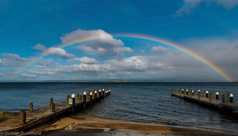 Rainbow over The Lake
