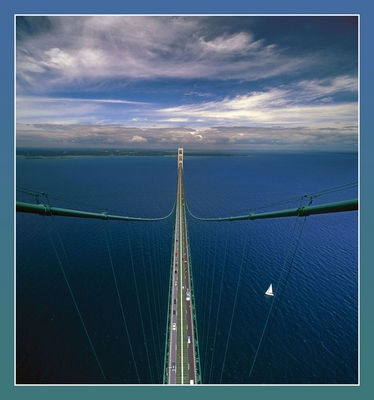 Mackinac Bridge from the South Tower