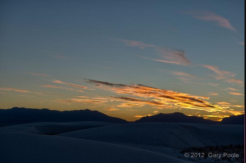 Sunset at White Sands - 1