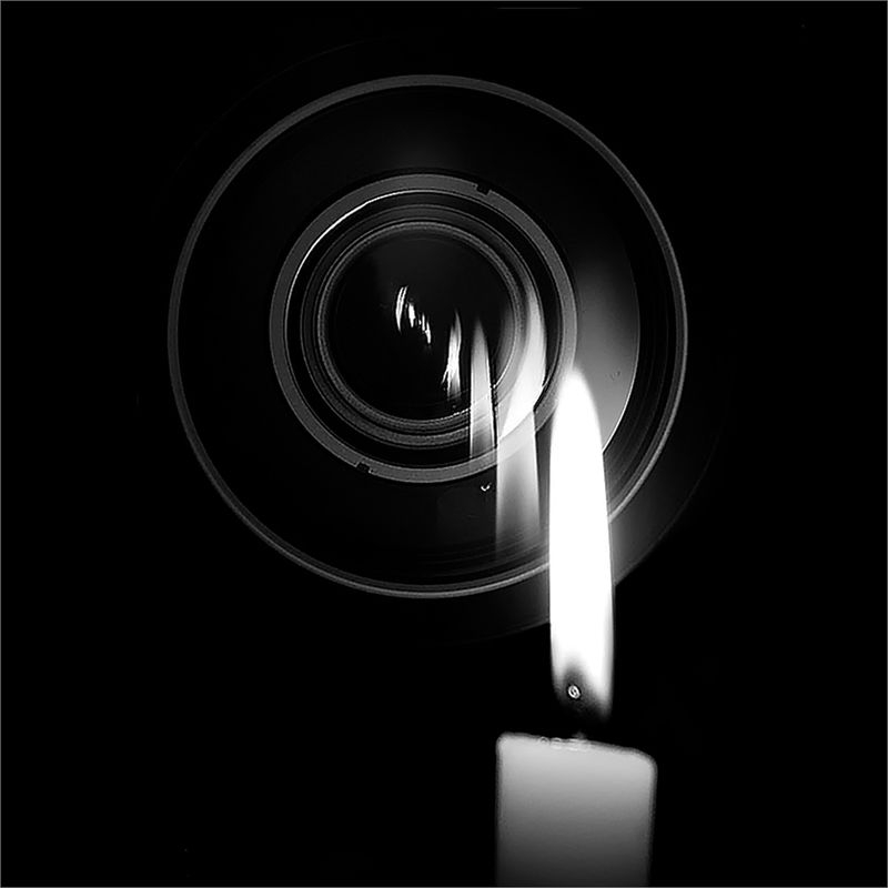 Candle and Lens