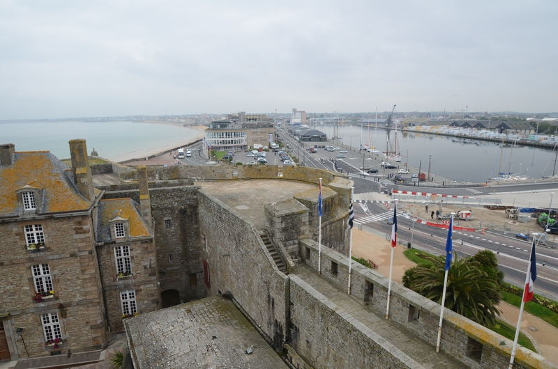 Saint Malo,port view from casttle