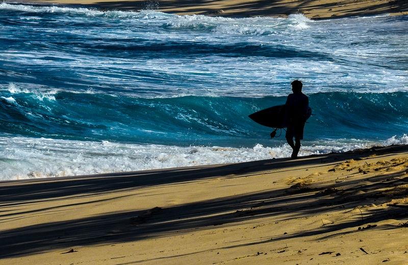 Checking the Shore Break, Sunset Beach, O'ahu