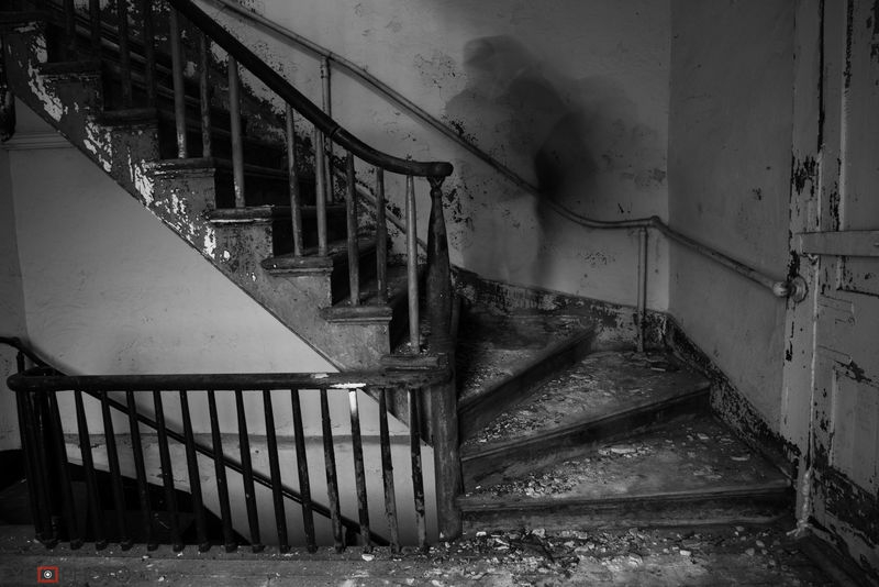 ghost in the stairs self portrait
