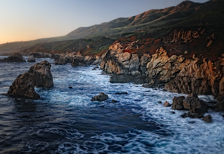 Sobranes Point at Sunset, Big Sur, CA