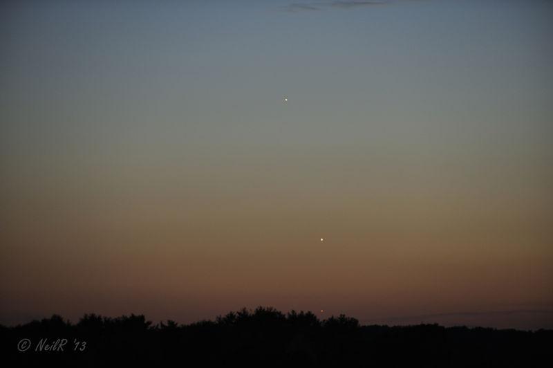 Conjunction Mercury-Venus-Jupiter