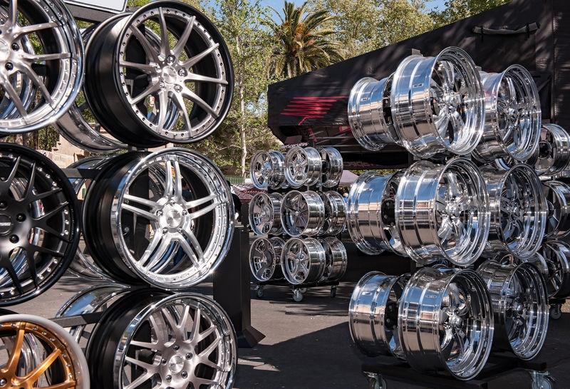Custom Wheel Display, Good Guys Car Show