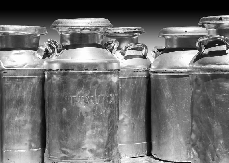 Milk Cans, Pleasanton Vintage Truck Show