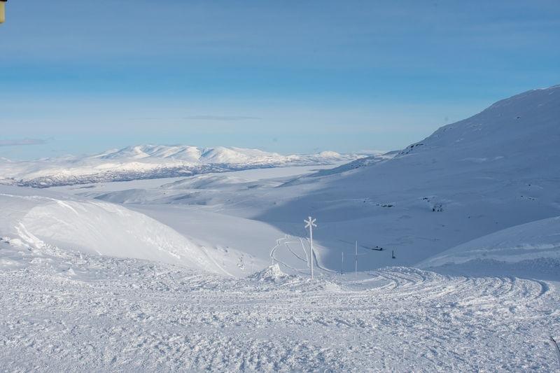Northern Sweden Låktatjåkka mountain cabin