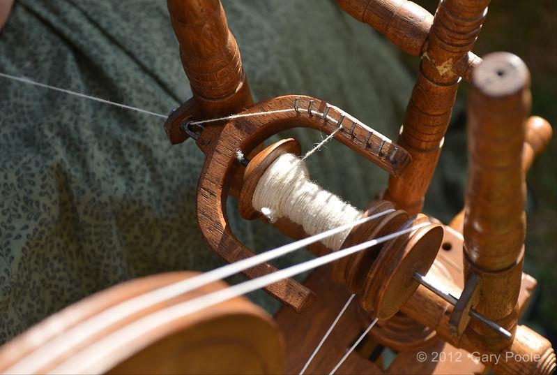 Spinning wheel detail