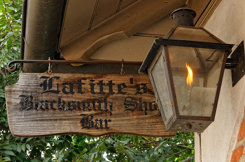 Lafitte's BBlacksmith Shop on Bourbon St.