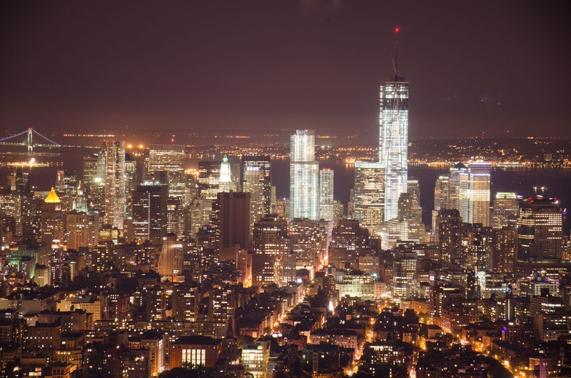 Freedom Tower from the Empire State Building