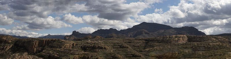 Superstition Mountains Pano from Apache Trail