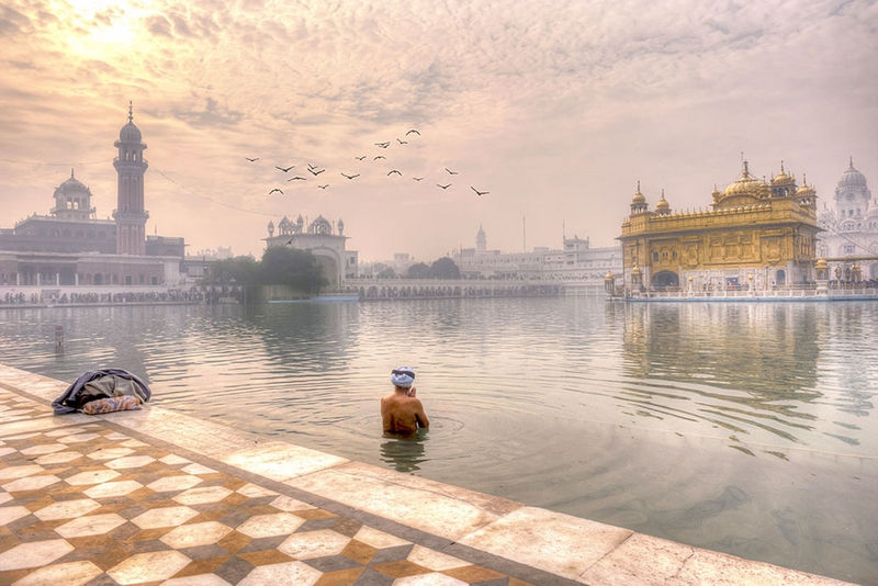 Sikh Devotee at the Golden Temple