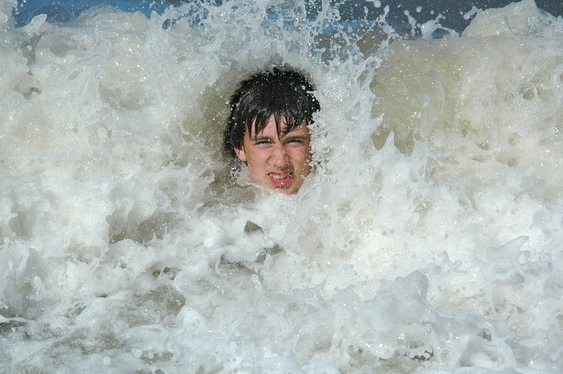 Jake in the surf