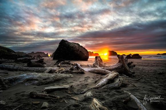 Sunset at Face Rock