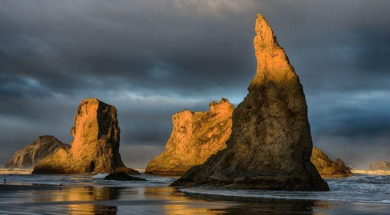 Sea Stacks At Sunrise - Bandon OR
