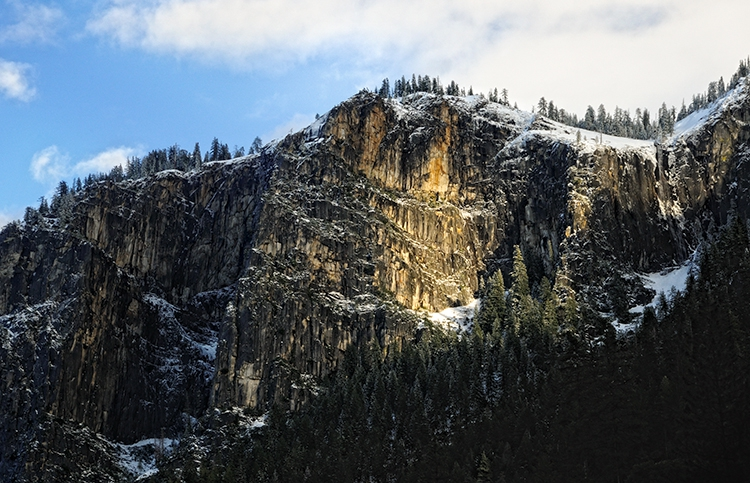 Sunlit Granite Face:  Yosemite NP