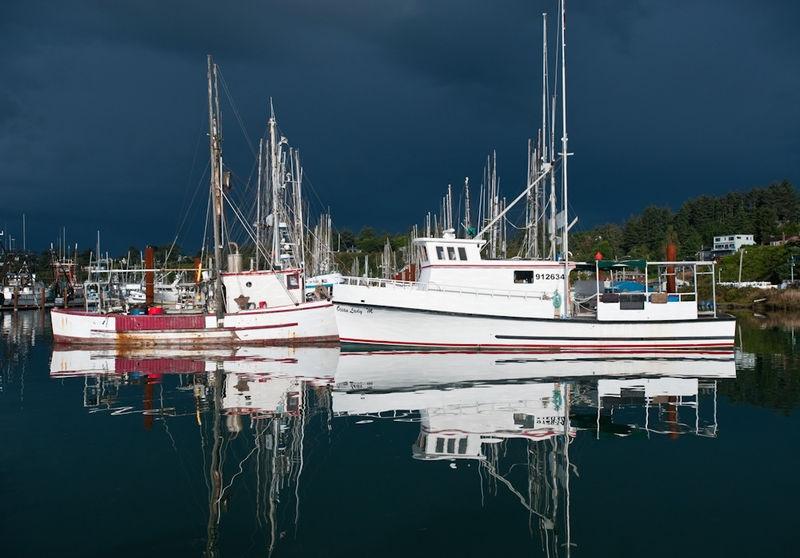 Clearing Storm Newport Marina