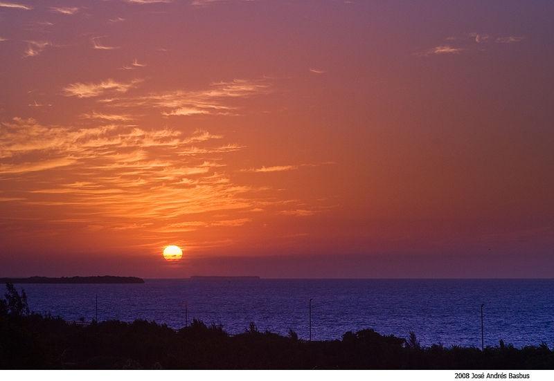 sunrise in Varadero, Cuba