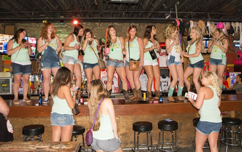 weddiing party at Coyote Ugly's