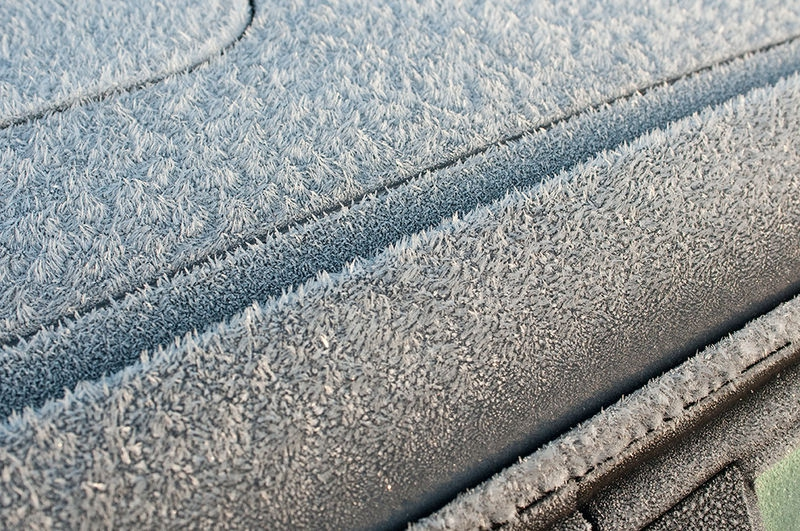 Frost on the car