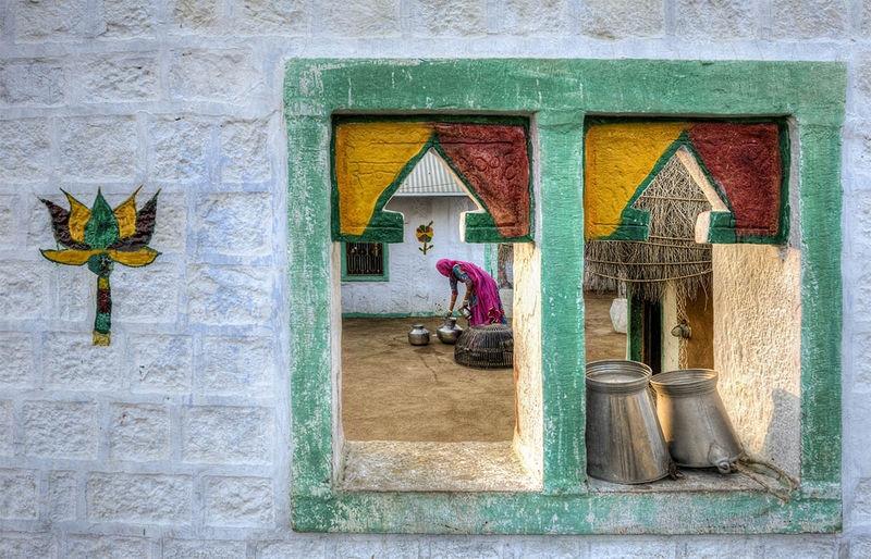 Window to a Courtyard