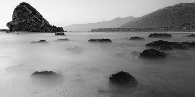 Sea Mist at Sand Dollar Beach near Sunset, Big Sur, CA