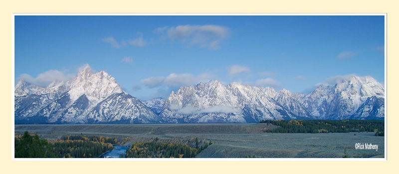 Teton Morning Panorama