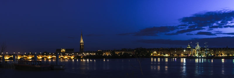 Bordeaux, France, by night