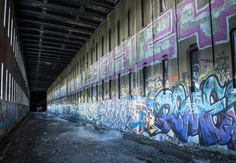 Donner Summit, Abandoned Snowshed and Graffiti