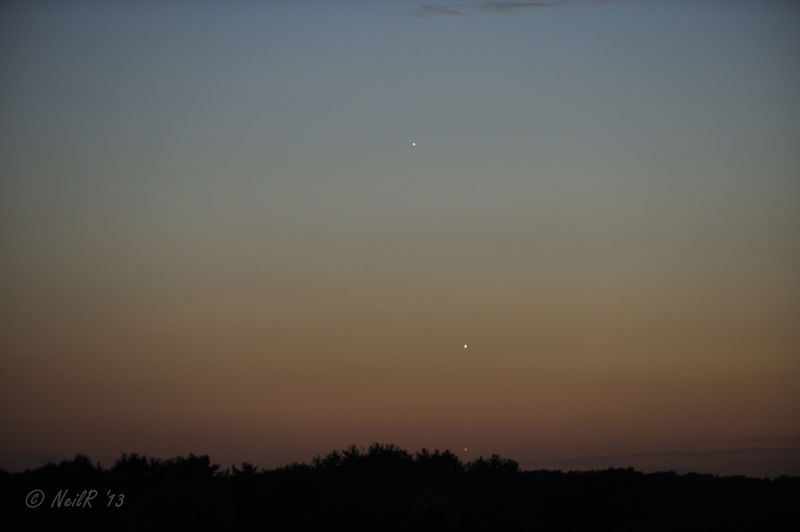 Conjunction Mercury-Venus-Jupiter
