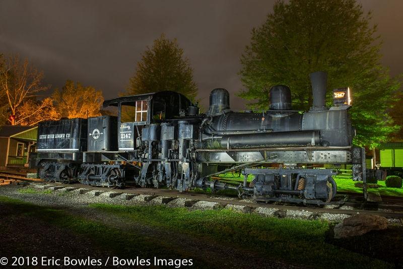 Train Museum Light Painting