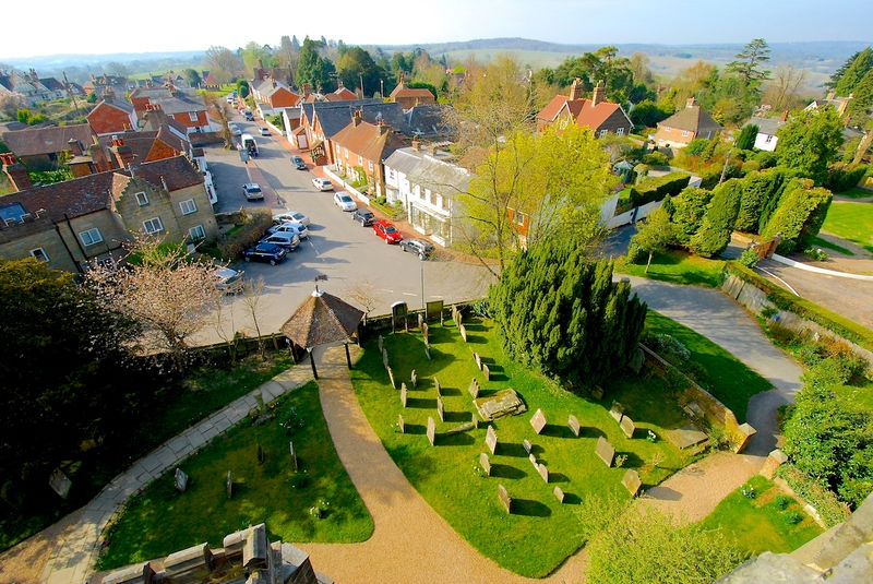 Village view from the church tower.