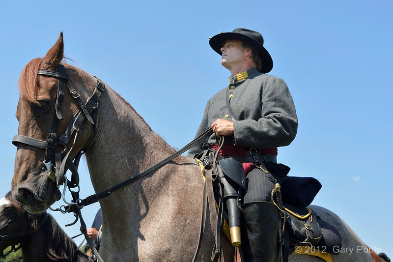 Confederate cavalry member