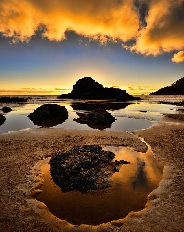 Indian Beach at Sunset