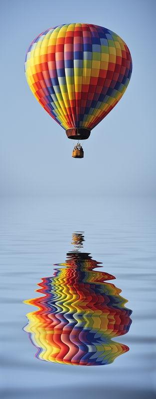 Balloon reflected