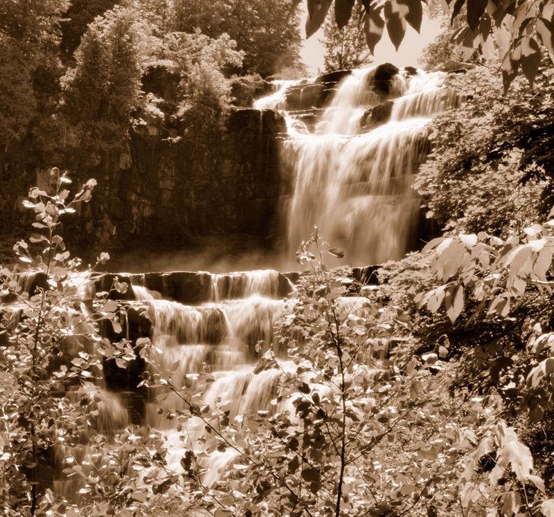 Chittenango Falls in Sepia